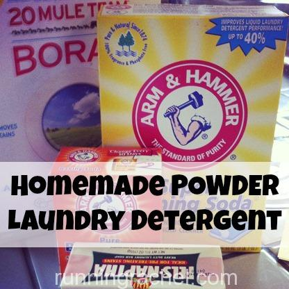 homemade POWDER laundry detergent recipe