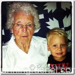 GG (Great Grandma) and great-grandson