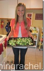 julie with brussels sprouts