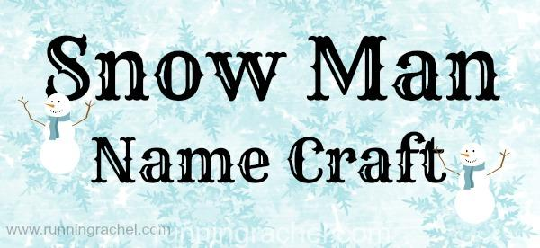 snowman name craft for kids