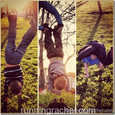 handstand friday via @runningrachel children