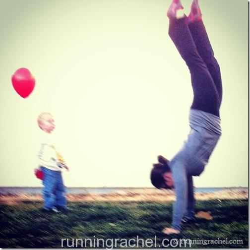 handstand friday via @runningrachel
