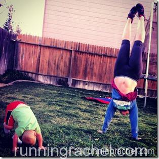 handstand friday with kids runningrachel
