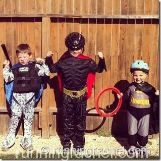 three little super heroes