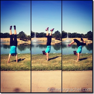 handstand friday, runningrachel