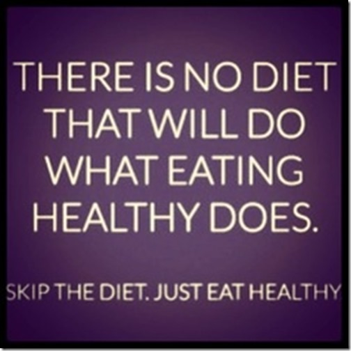healthy eating, skip the diet